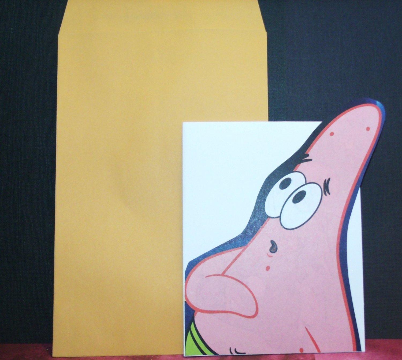 Handmade Children's Greeting Card Nickelodeon SpongeBob - Patrick