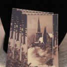 Christmas Church Scene in Sienna Jewelry Cards / Earring Cards / Place Cards