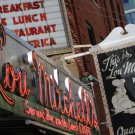 Close Up of Lou Mitchell's Restaurant & Bakery Signs Downtown Chitown, Fine Art Photograph