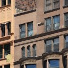 Ornately Detailed Brownstone Buildings Downtown Chicago, Interior Decorating, Fine Art Photo