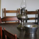 Antique Hurricane Lamp on Table, Fine Art Photograph for Interior Design