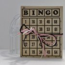 Set of 5 Vintage 1933 Parker Brothers Bingo Cards - Mixed Media - Art