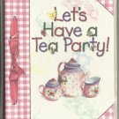 "Pink Gingham with Pink Teapot and Cups ""Let's Have a Tea Party"" invitation Cards"