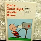 Vintage Peanuts Hardcover Comic Strip Book You're Out of Sight, Charlie Brown