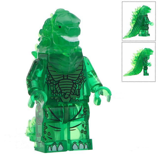 Dinosaurs Mdf Toy Box Childrens Storage Toys Games Books: Green Godzilla Lego Minifigure Toy