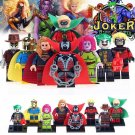 8pcs Rorschach Green Lantern Supergirl Super Hero Lego Minifigure Toy