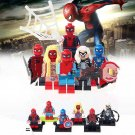 6pcs Spider Biker Spider Girl Spiderman Super Hero Lego Minifigure Toy