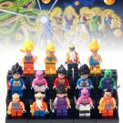 14pcs Son Goku Roshi Vegeta Krillin Dragon Ball Lego Minifigure Toy