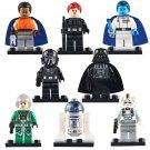 8pcs Darth Vader TIE Fighter Pilot Star Wars Super Hero Lego Minifigure Toy