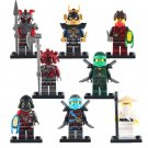 8pcs Lloyd Krux Vermin Wu Ninjago Super Hero Lego Minifigure Toy