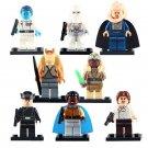 8pcs Han Solo Grand Admiral Imperial Snowtrooper Star Wars Super Hero Lego Minifigure Toy
