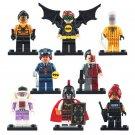 8pcs Robin Spiderwoman Batman Babara Super Hero Lego Minifigure Toy