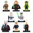 8pcs Han Solo Grand Moff Tarkin Luke Skywalker Star Wars Super Hero Lego Minifigure Toy