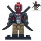Deadpool With Black Jacket Custom Super Hero Lego Minifigure Toy