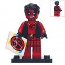 Deadpool And Music Cassette Custom Super Hero Lego Minifigure Toy