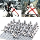 21pcs Crusader Rome Commander Soldiers Medieval Knights Lego Minifigure Toy