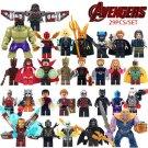 29pcs Iron Man Hulk Spiderman Thor Marvel Super Heroes Avengers Super Hero Lego Minifigure Toy