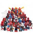 34pcs Peter Parker Spiderman Miles Morales Super Hero Lego Minifigure Toy