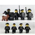 8pcs Black Swat team war army Lego Minifigure Toys