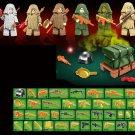 6pcs PUBG FPS Ghillie Suit Game Military war army Lego Minifigure Toys