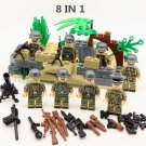 8pcs Navy Seals Team Soldiers ww2 Army Military Lego Minifigure Toys