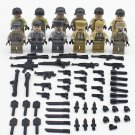 12pcs Group World War Troop Soldiers ww2 Army Military Lego Minifigure Toys