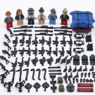 6pcs PUBG With Airdrop Bag Game ww2 Military army Lego Minifigure Toys