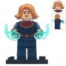 Captain Marvel Short Hair Super Hero Lego Minifigure Toy