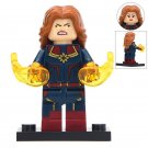 Angry Captain Marvel Super Hero Lego Minifigure Toy