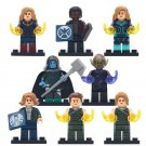 8pcs Skrull Ronan Captain Marvel Super Hero Lego Minifigure Toy