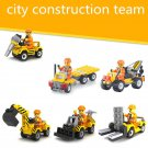 6 Cars City Contruction Team WW2 Army Military Lego Minifigure Toys