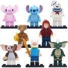 8pcs Gremlins Stitch Elliott Mix Lego Minifigure Toy