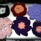 Freida's Flowers Handmade Crochet embellishment trim for headband Calla Poppy