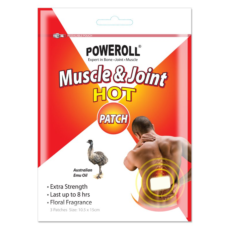POWEROLLMuscle & JointHOT Patch- 3 Patches(10.5 x 15cm)