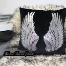 Personalized Angel Wig Designer inspired sequin Pillowcase