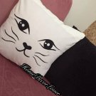 Cat pattern Throw Pillowcase, Cat printed handmade pillow cover