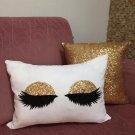 Gold Sequin Eyelash Pillowcase