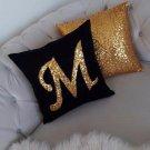 Monogram Pillowcase + Same Color Sequin Pillowcase Set