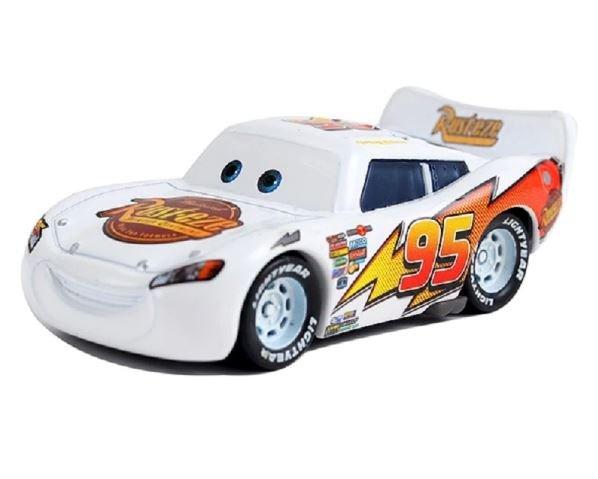 McQueen White Rusteze Cars Disney 1:55 Die Cast Metal Alloy Car Toy