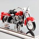 Harley 1958 FLH Duo Glide Red 1:18 Die Cast Metal Motorcycle Model