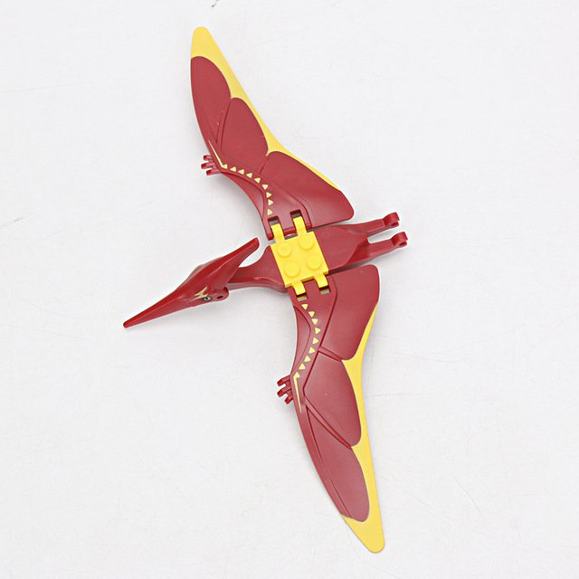 Jurassic Park 2 Pterodactyl Fly Red Dinosaurs Marvel Toys Model Plastic ABS Assemble Blocks DIY
