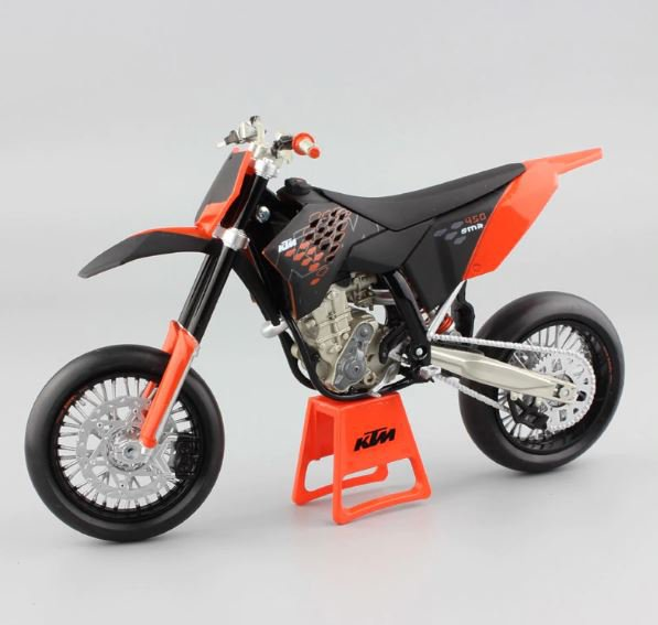 Automaxx KTM 450 SMR 2009 Supermoto 1:12 Die Cast Metal Motorcycle Model Miniature KTM