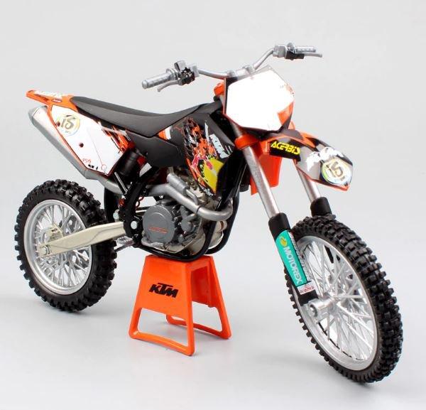 Automaxx KTM 450 SX SX-F 2009 1:12 Die Cast Metal Motorcycle Model Miniature KTM