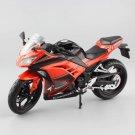 Kawasaki Ninja 250R 2013 Orange Black 1:12 Die Cast Metal Motorcycle Model Miniature