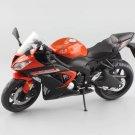 Kawasaki Ninja ZX-6R Sport Orange 1:12 Die Cast Metal Motorcycle Model Miniature