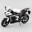 Kawasaki Ninja ZX-6R Sport White 1:12 Die Cast Metal Motorcycle Model Miniature