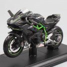 Kawasaki Ninja H2 H2R Black Green 1:12 Die Cast Metal Motorcycle Model Miniature