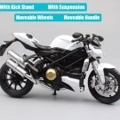 Ducati Streetfighter 2010 Automaxx White 1:12 Die Cast Metal Motorcycle Model Miniature