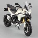 Ducati Multistrada 1200S White 1:12 Die Cast Metal Motorcycle Model Miniature