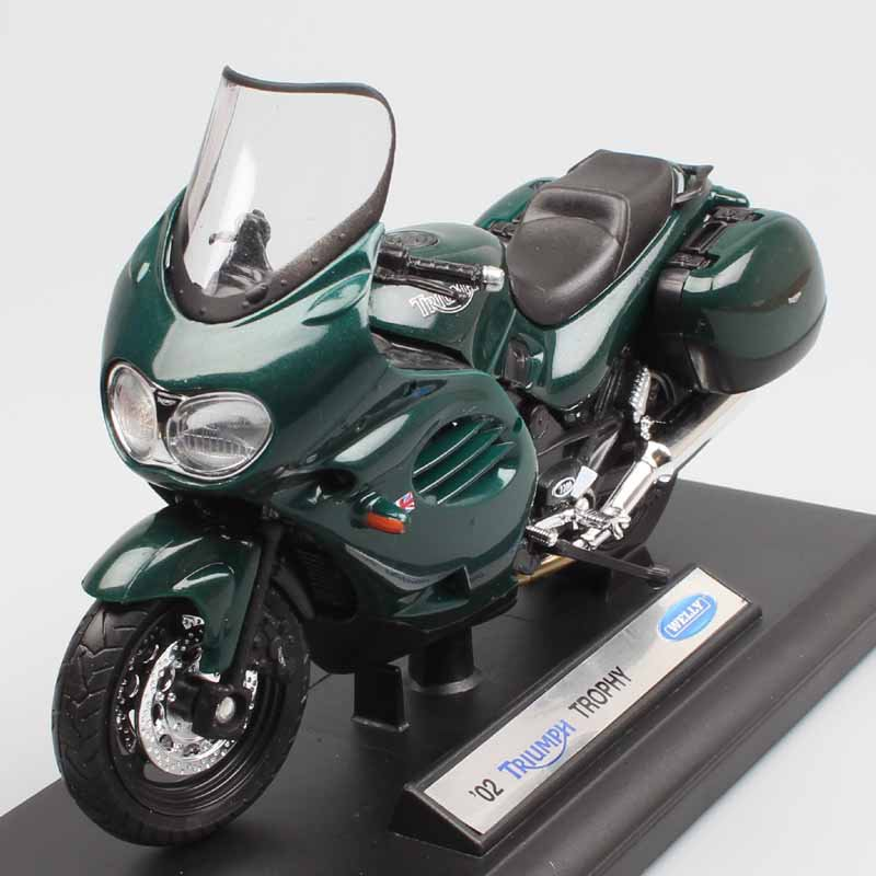 Triumph Trophy 2002 Green Dark 1:18 Die Cast Metal Motorcycle Model Miniature